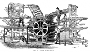 Hoe's six-cylinder press