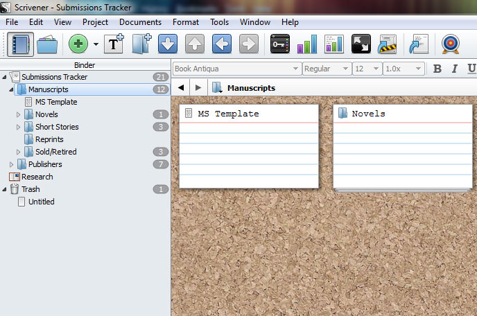 Create a submission tracker in scrivener sherry d ramsey folders maxwellsz